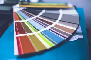 A bunch of wall color swatches to help you redecorate your apartment.