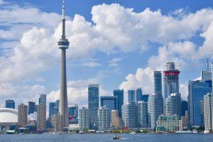 A skyline of Toronto during daylight.