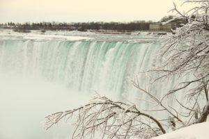 A frozen Niagara Falls