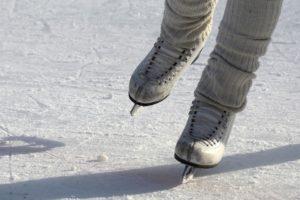 An ice skater skating