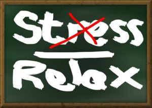 No stress sign - You will get rid of stress when you are relaxing during moving,