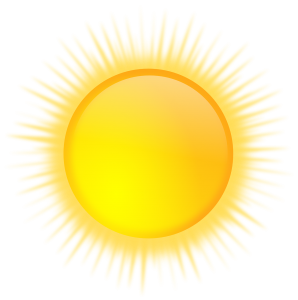 A cartoon Sun. It is one of the reasons why people love retiring in Florida.