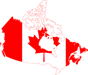 Canadatin flag and map