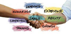 Skills, shaking hands