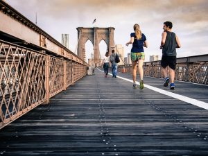 running across the bridge when you become part of the community after moving to NY
