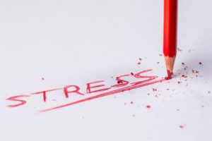 Writing of the word stress