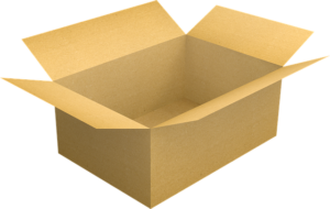 A cardboard box used for packing cleaning liquids