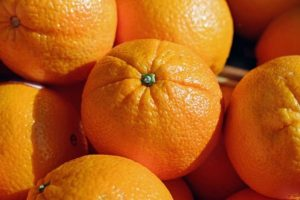Oranges, which are very healthy to pack and have by your side when moving from Ottawa to Toronto while pregnant.
