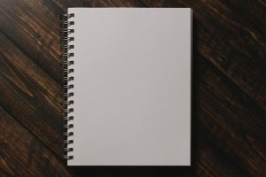 A notebook to write all the pros and cons of streets of Toronto.