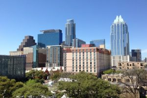 There is a cityscape of Austin, one of the best places for your new home in Texas.