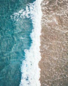 Waves hitting the beach in Boca Raton, FL.