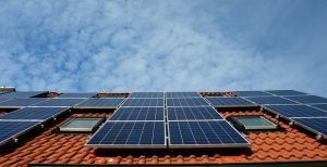 Solar panels as a one of the ways to make your home more sustainable.