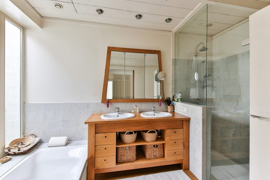 organize your bathroom with clever use of storage space