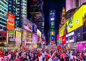 New York lights.