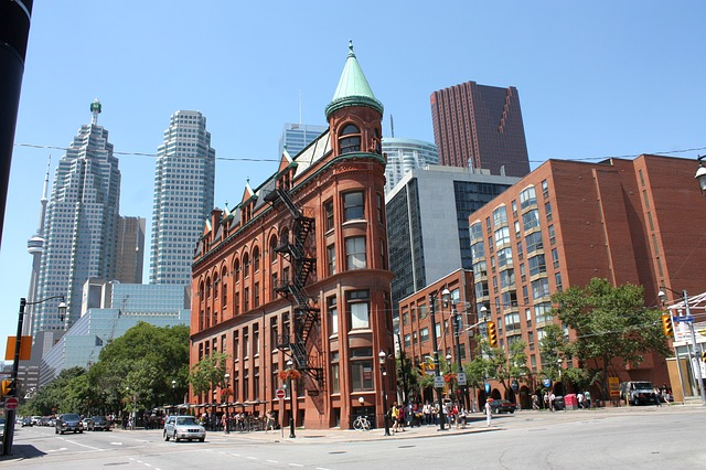 A charming old building in Toronto to visit when applying for a job in Canada.