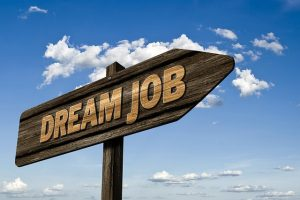 Dream Job Sign Direction